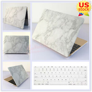 classic fit 1b77e 6531a Details about White Marble Matte Hard Case+Keyboard Cover for MacBook Air  Pro 11.6 13.3-inch