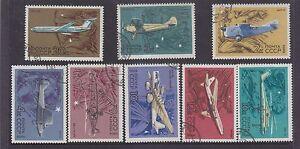 USSR-RUSSIA-1969-CIVIL-AVIATION-SET-SG-3763-70-CTO-HINGE-REMNANTS-7-freepost