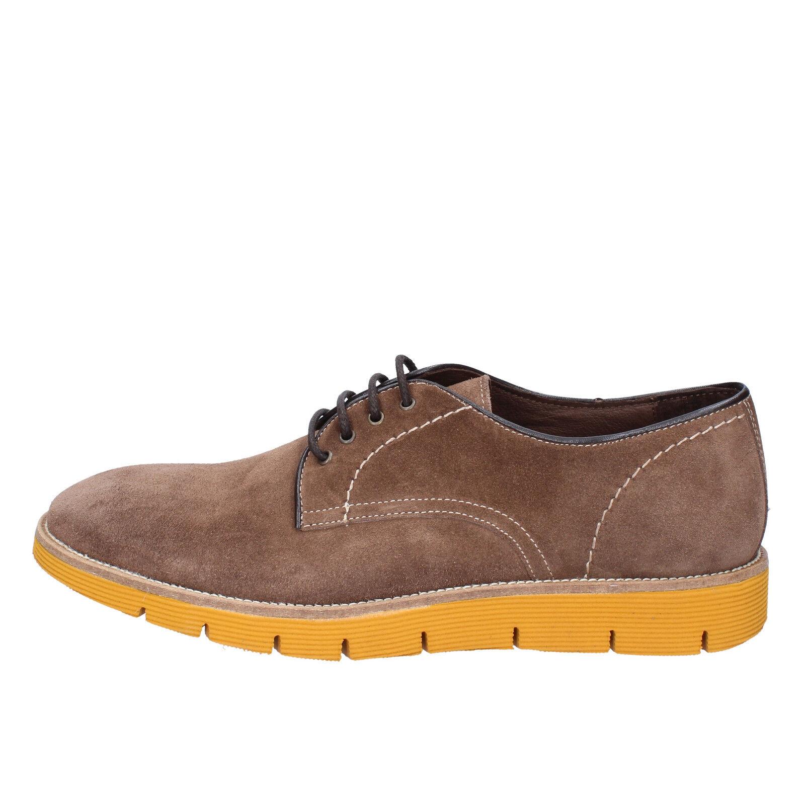 Mens shoes EVC 8 (EU 42) elegant suede brown AD746-B