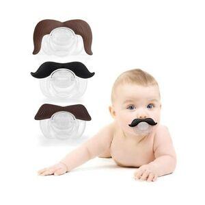 Drole-Moustache-Tetine-Tetines-Nouveaute-Bebe-Enfant-Levres-Blague-GB