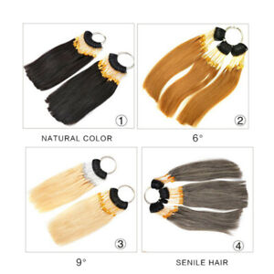 Details about Hair Swatches for Testing Color Hair Color Sample Rings with  Gold Buckles Real H