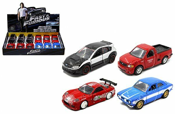JADA 1 32 DISPLAY FAST & FURIOUS 4 STYLE ASSORTMENT BOX SET 12 PCS DIECAST CARS