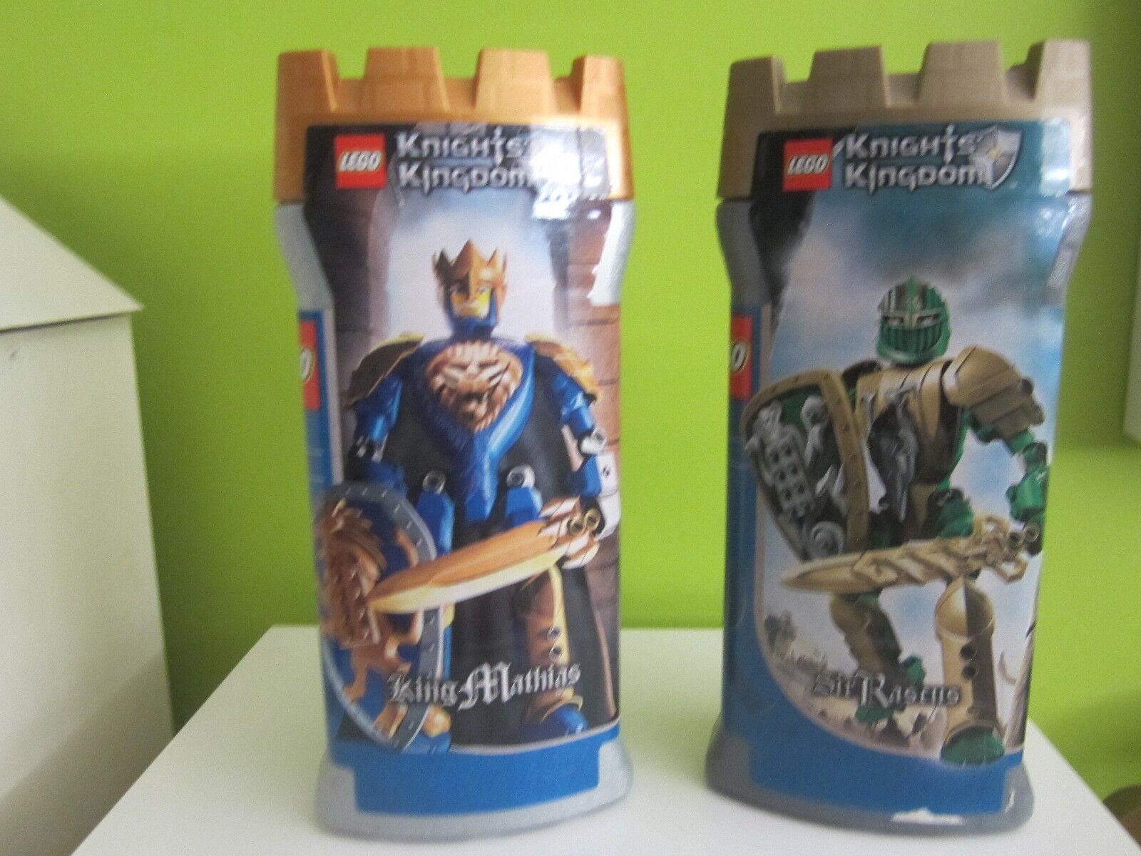 LOTE LEGO 8793 Y 8796 KNIGHTS AND KINDOM SIR RASCUS Y KING MATHIAS