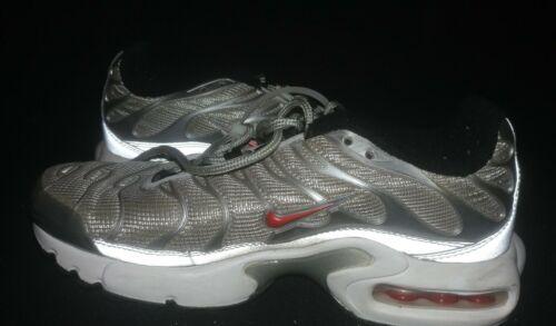 Nike Air Max Plus Size 4y 'Silver Bullet' SKU: 921