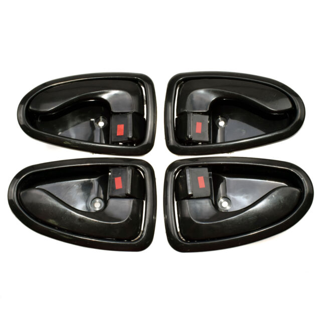 Fit Hyundai ACCENT Inside Interior Front Rear Right Black Side Door Handle 00-06
