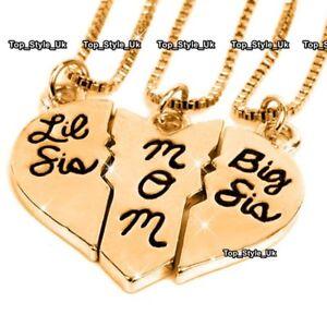 Hermanas-mejores-amigos-para-siempre-mama-Collar-Madre-Navidad-Regalos-presente-para-ella-J598