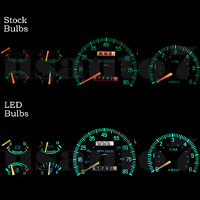 Dash Instrument Cluster Gauge White Led Lights Kit Fits 87-91 Ford F150 F250