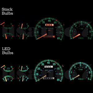 Details about NEW Dash Instrument Cluster Gauge WHITE LED LIGHTS KIT Fits  87-91 Ford F150 F250