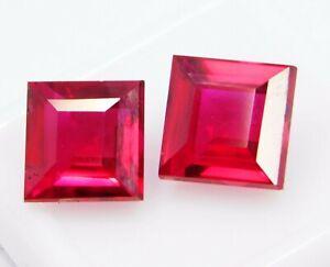 Natural-CERTIFIED-Emerald-Cut-8-Ct-Earring-039-s-Pair-Rare-Ruby-Loose-Gemstone