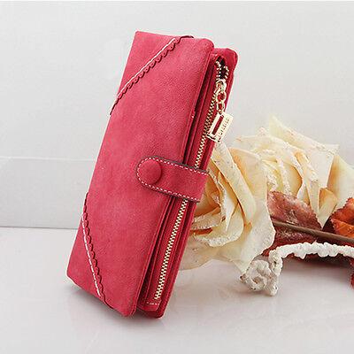 Wholesale Women's Leather Wallet Button Clutch Purse Lady Long Handbag Bag