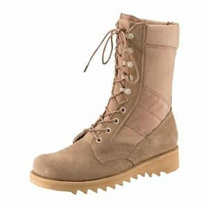 10 Desert Tan BOOT - GI Jungle Style with Wave or Ripple Sole Rothco 5058