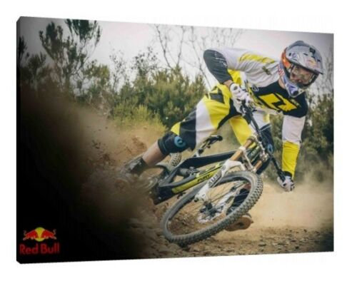 Gee Atherton 30x20 Inch Canvas Cycling Framed Picture Wall Art Print Downhill