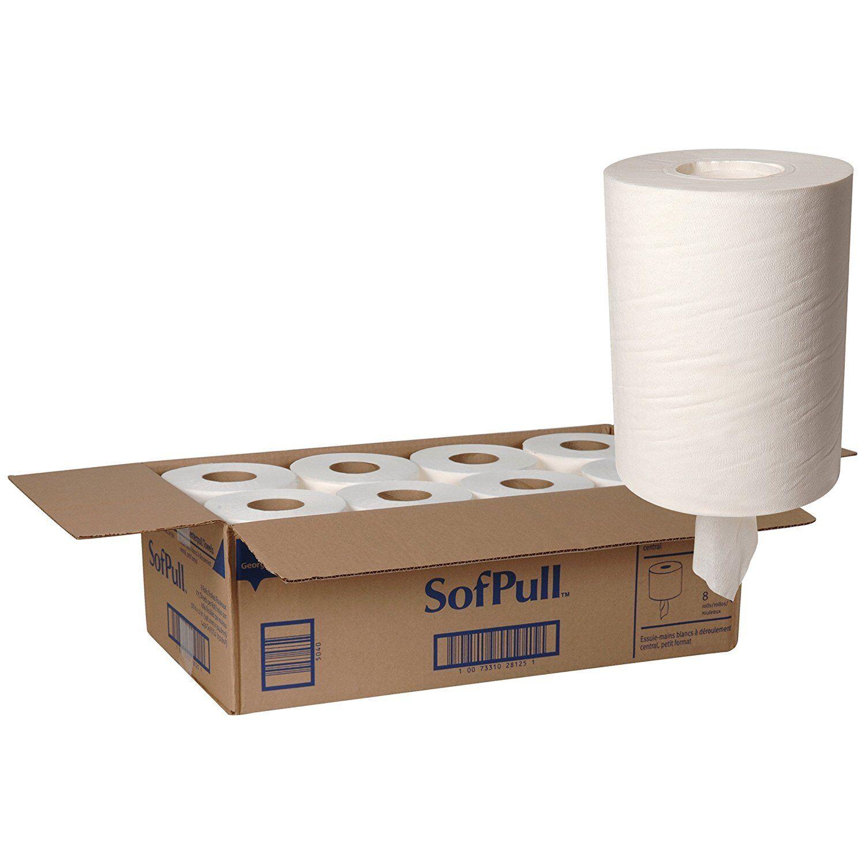 Georgia Pacific SofPull Center Pull Paper Towel, 7 4 5  X 12 , 28125 - CASE OF 8