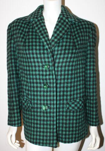 Inghilterra vintage M Giacca verde scozzese lana Ls in Scozia L nero z0w0qa