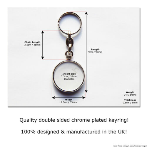 WEIMARANER Dog Puppy Quality Chrome Keyring Picture Both Sides