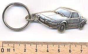 Schlüsselanhänger Maße Fahrzeug 48x24mm Automobilia Kreativ Fiat X1/9 Schlüsselanhänger Relief