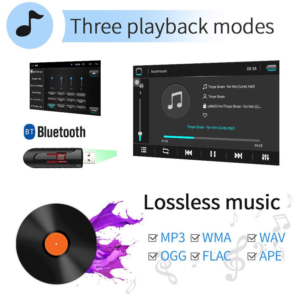 "s l1600 - 2DIN 10.1"" Android 8.1 Autoradio MP5 Player GPS Navi WiFi BT USB FM Vidrio 2.5D"