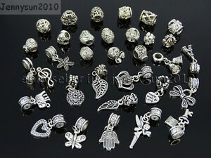 Tibetan-Silver-Big-Hole-Connector-Metal-Spacer-European-Charm-Beads-Findings-3