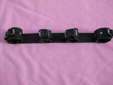 Real Leather 4 In A Line Restraint - fetish bondage wrist ankle cuffs kinky