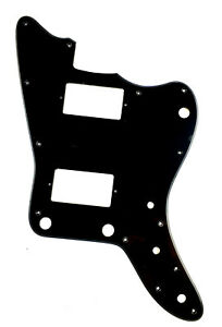 Guitar-Parts-For-Japan-Jazzmaster-Guitar-Pickguard-with-PAF-Humbucker-1Ply-Black