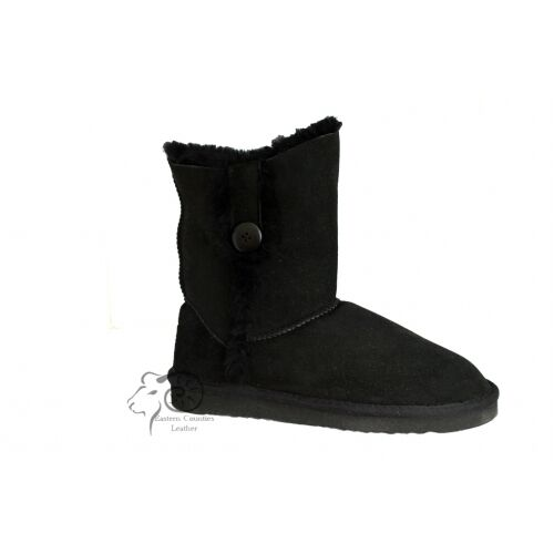 Sheepskin boot with with with button tab 100%sheepskin 0b445c