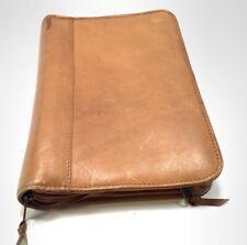 New Listingvintage Small Genuine Leather Brown Portfolio Binder Wallet Columbia