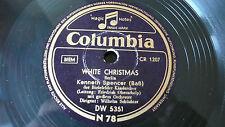 """10218#Kenneth Spencer White Christmas Transeamus 78rpm 10"""" Schellack Top Zustand"""