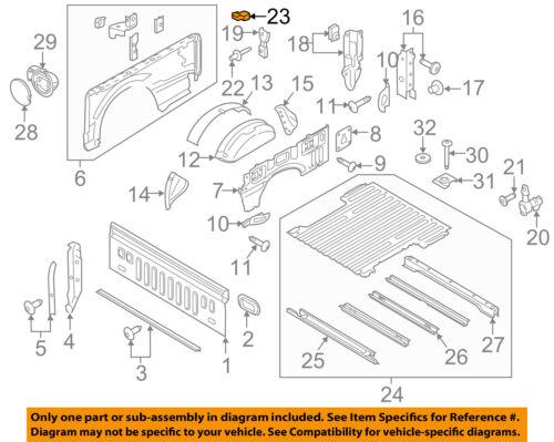 FORD OEM 15-16 F-150 Fuel Gas Cap Door-Rubber Bumper Cushion Right FL3Z99439A00A