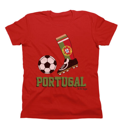 Kids WORLD CUP 2018 Football Boot T-Shirt PORTUGAL Childrens Top