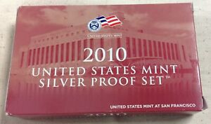 2010-S-US-MINT-SILVER-PROOF-SET-Complete-w-Original-Box-and-COA