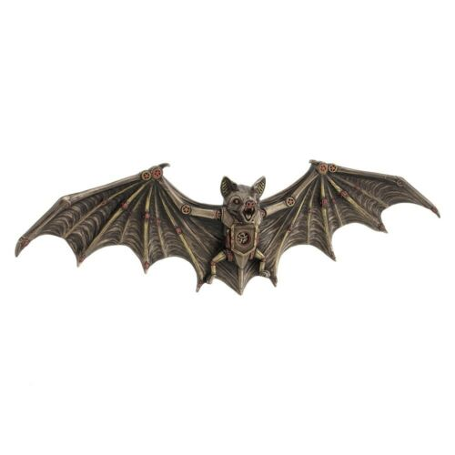 STEAMPUNK DESIGN CLOCKWORK BAT WALL MOUNTED PLAQUE FIGURE .WU.PRODUCTION.
