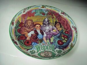 Wizard-of-Oz-Off-to-See-Wizard-7-1-2-Collector-Windup-Music-Box-Plate-H-871