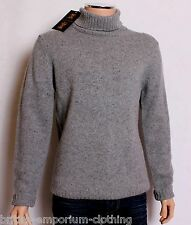 BNWT Holland Esquire HAND CUSTOMISED 100%LAMBSWOOL Roll Neck Jumper Sweater LGE