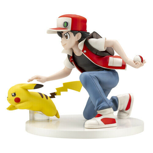 Neu Pokemon Center Online Limitiert 20th Anniversary Figur Rot & Pikachu Japan