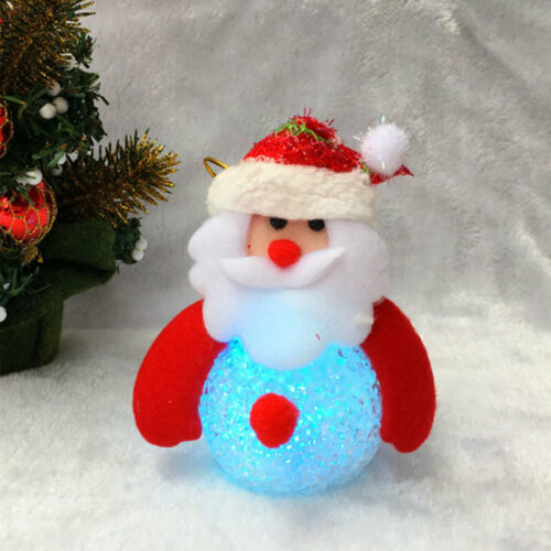 0C34 Santa LED Snowman Decor Non-Woven Christmas LED Christmas Ornament Gift