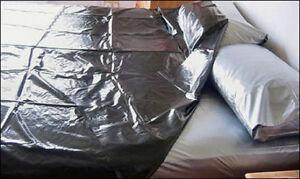 PVC-Mattress-Cover-amp-Top-Sheet-King-Size-Plastic-Bedding-PVCuLike-Shiny