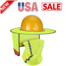 Hard Hat Sun Shade Neck Protection High Visibility Neck Shield Full Brim Mesh