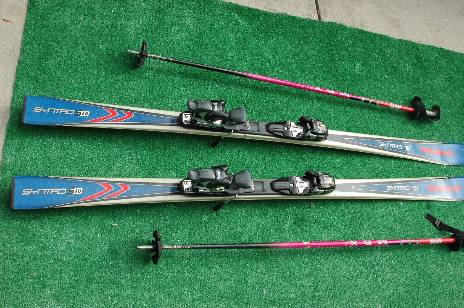Volkl Syntro S10 Skis 170 509541 67  Marker Binding sz 4-12 & 50  Elan FSS Poles