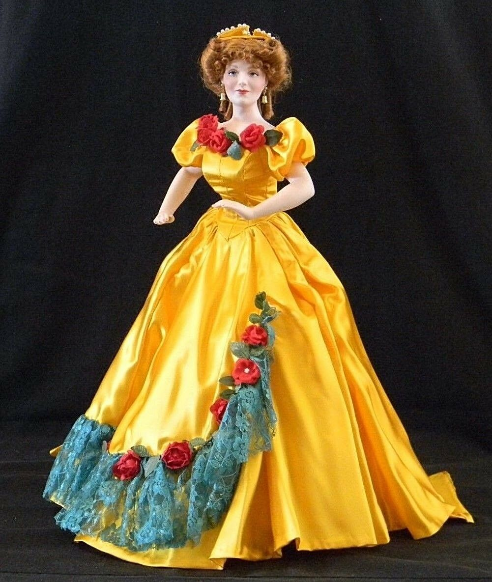 Franklin Mint Heirloom Dolls, Gone With The Wind Collection, Belle Watling