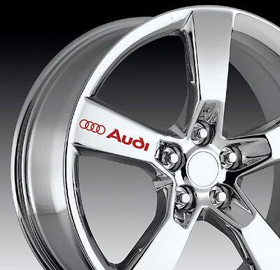 8 X AUDI Decal Sticker Graphics S3 S4 S5 S6 S7 S8 RS SQ5 Vinyl Emblem Logo I