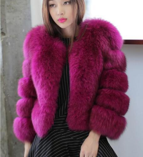 Jacket Collar Fashion Fur Coat Parka Varm Designer Kvinder Sz Overcoat Tykk Faux IIB0Of