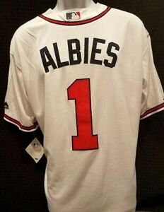 huge selection of 6805b 9fdd2 Details about Ozzie Albies Jersey Atlanta Braves Jersey MLB