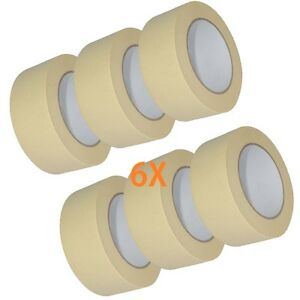 6X-MASKING-TAPE-For-Home-DIY-or-the-Bodyshop-50mm-x-50m-Protects-Masked-Surfaces