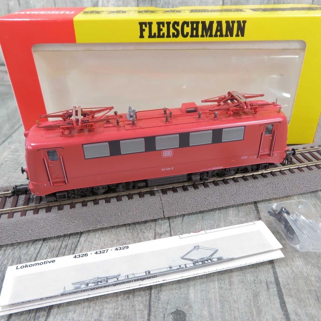 FLEISCHMANN 4327  - HO - DB - Elektrolokomotive 141 414-3 - OVP -  R27574