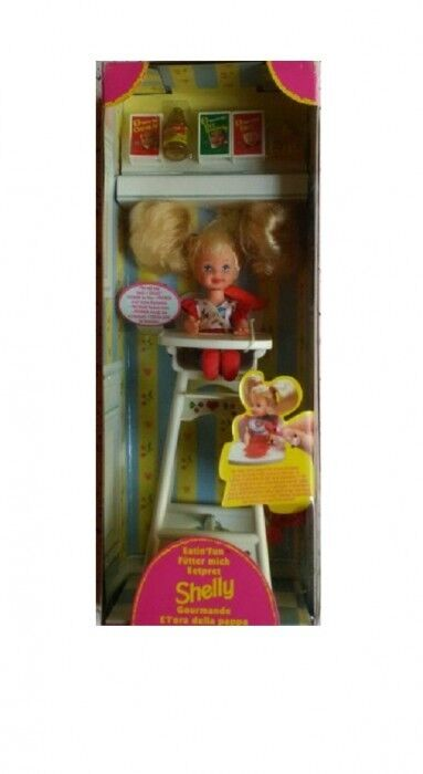 Barbie Eatin' Fun Shelly Baby Sister Of Barbie With High Chair 1997 Rare New