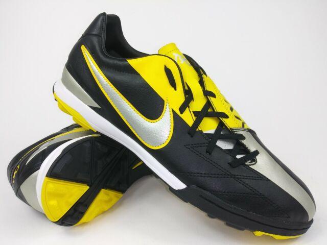 buy popular 451b9 1d759 Nike Mens Rare Vintage T90 Shoot IV TF 472560-007 Black Yellow Shoes Size  8.5