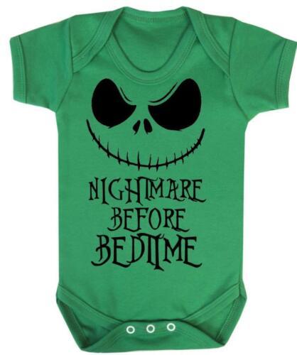 Nightmare Before Bedtime Halloween Baby Grow Funny Baby Bodysuit Vest
