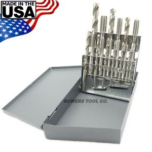 Chicago-Latrobe-18pc-Hand-Tap-amp-Drill-Set-NC-6-32-to-1-2-13-with-Index-USA