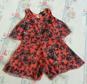 64b62268f2 GIRLS ON FILM ORANGE FLORAL PLAYSUIT ~ SIZE 10 ~ BRAND NEW WITH TAGS ...