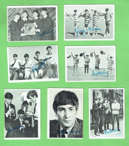#D47. #2. LOT OF SEVEN 1960s BEATLES TRADING CARDS